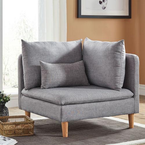 Eden Modular Grey Corner Chair