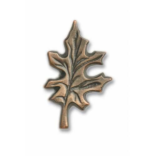 Antique Brass Oak Leaf Knob