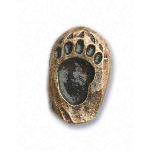 Antique Brass Right Single Bear Track Knob