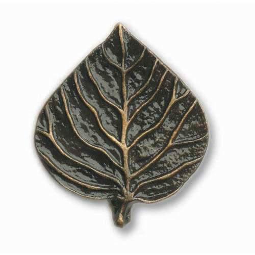 Antique Br Single Aspen Leaf