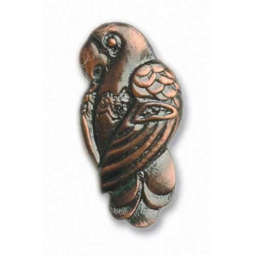 Antique Copper Parrot Knob