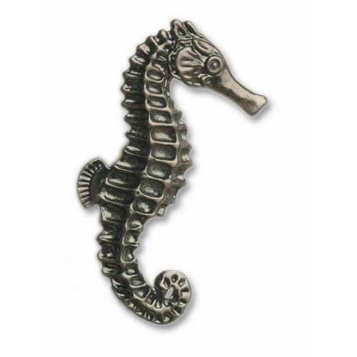 Pewter Right Facing Seahorse Knob