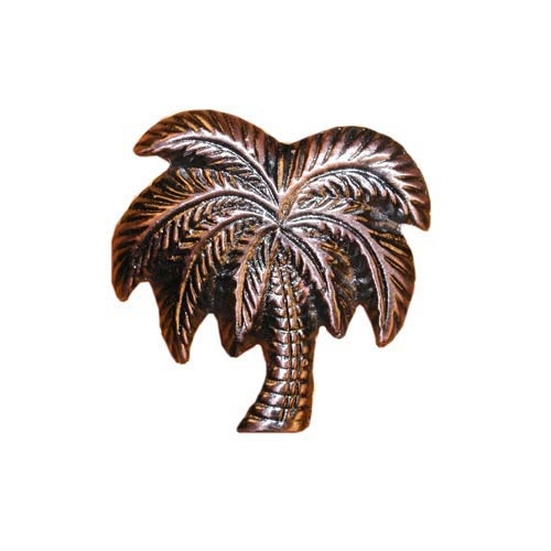 Antique Copper Palm Tree Cabinet Knob