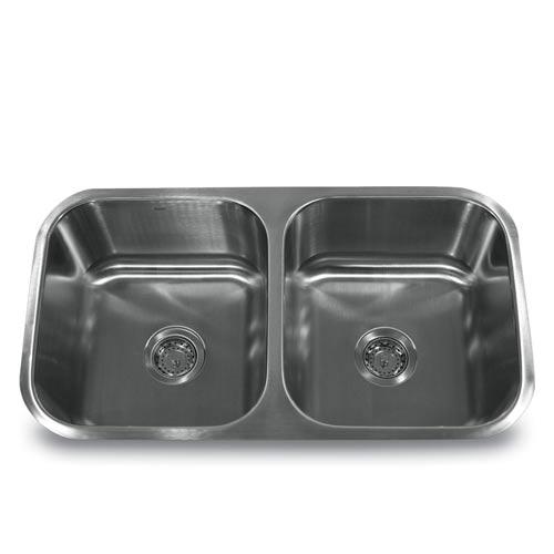 304 16 Gauge Stainless Steel Double Bowl Undermount Kitchen Sink