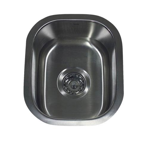 Nantucket Sinks Quidnet Brushed Satin 15 Inch Undermount Stainless Steel  Bar/Prep Sink