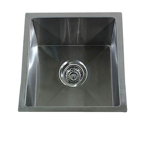 Exceptionnel Nantucket Sinks Pro Series Brushed Satin 15 Inch Undermount Bar/Prep Sink