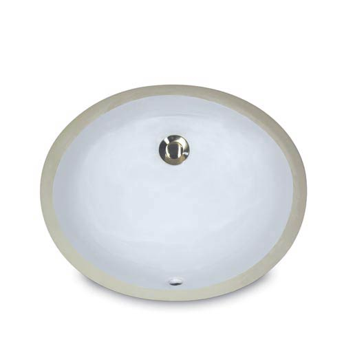 Nantucket Sinks Mini Oval Undermount Vanity Bowl   White