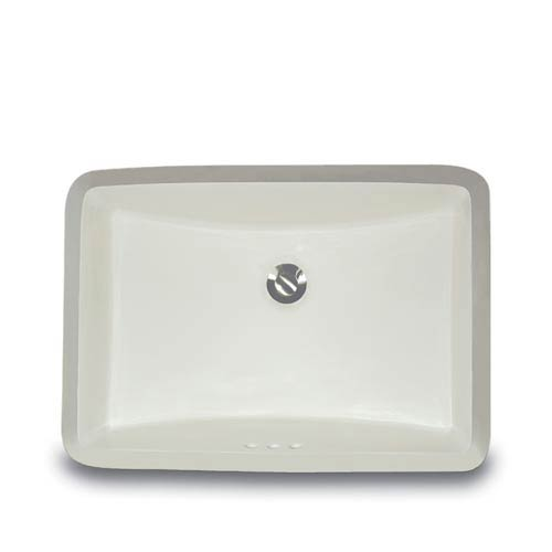 Rectangular Trough Style Vanity Bowl - Biscuit