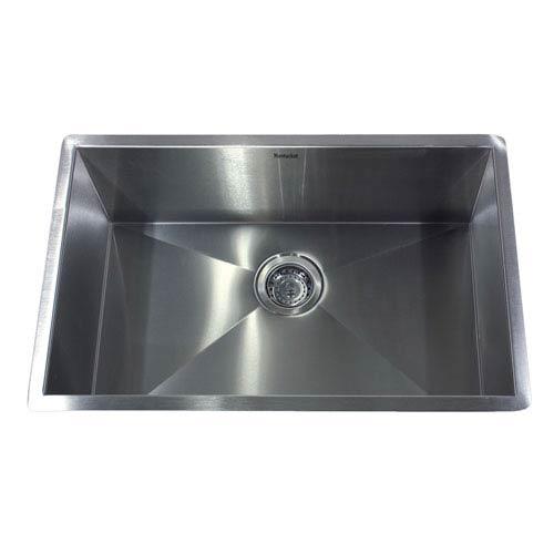 Nantucket Sinks Pro Series Brushed Satin 28 Inch Single Bowl