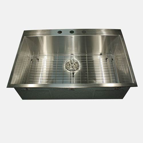 Pro Series Brushed Satin Drop-In Kitchen Sink