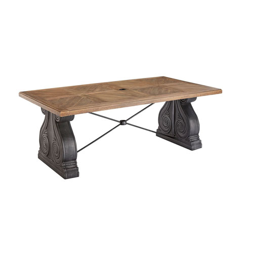 Arch Salvage Outdoor Lyon Rectangular Dining Table