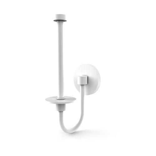 Skyline Matte White Three-Inch Upright Toilet Tissue Holder