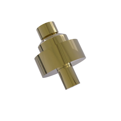 Unlacquered Brass Two-Inch Cabinet Knob