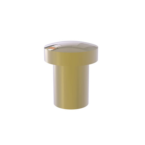 Unlacquered Brass One-Inch Cabinet Knob