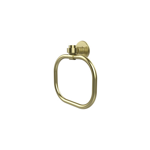 Continental Satin Brass Nine-Inch Towel Ring