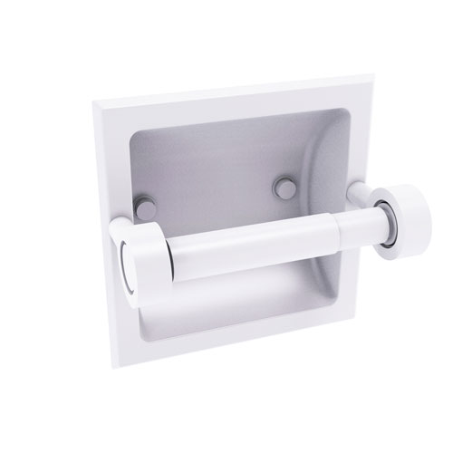 Continental Matte White Six-Inch Recessed Toilet Tissue Holder