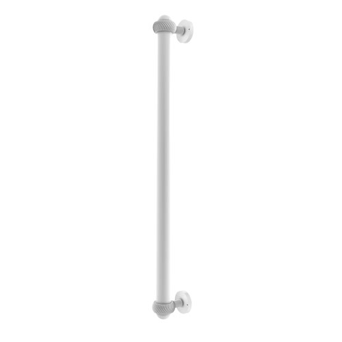 Matte White 18-Inch Refrigerator Pull with Twisted Accents with Twisted Ring Detail