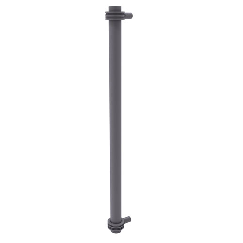 Matte Gray 18-Inch Refrigerator Pull with Dotted Accents with Dotted Ring Detail