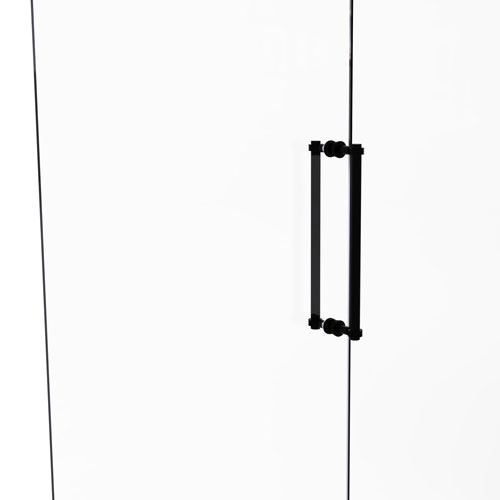 Matte Black 18-Inch Back to Back Shower Door Pull with Dotted Accent