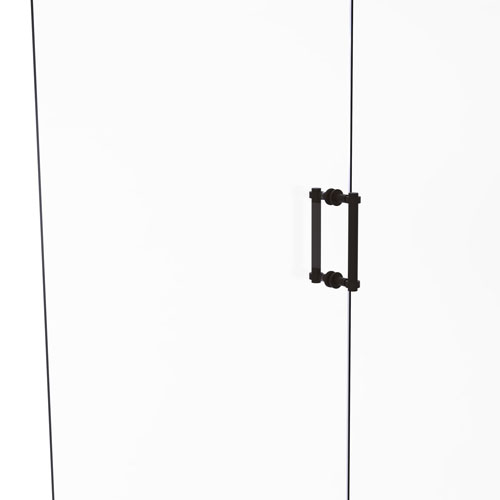 Oil Rubbed Bronze Eight-Inch Back to Back Shower Door Pull with Grooved Accent