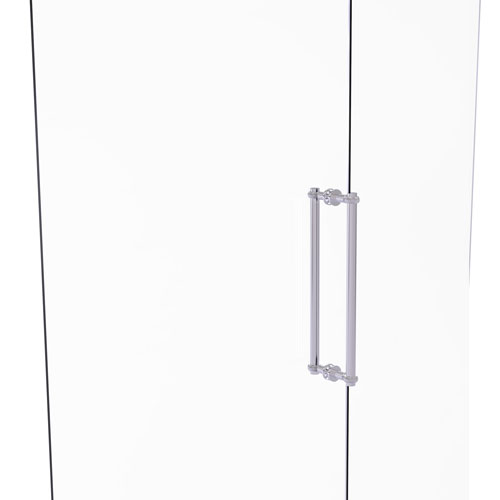 Polished Chrome 18-Inch Back to Back Shower Door Pull with Twisted Accent