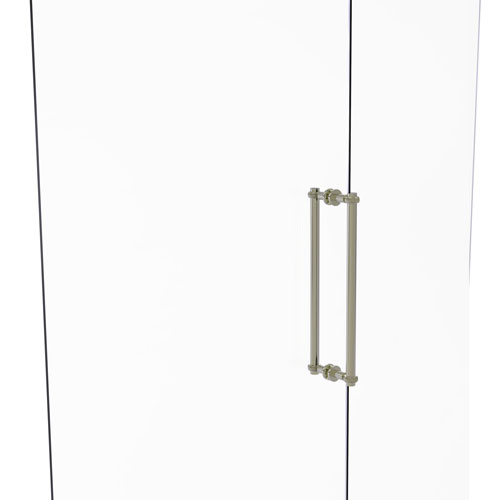 Polished Nickel 18-Inch Back to Back Shower Door Pull with Twisted Accent