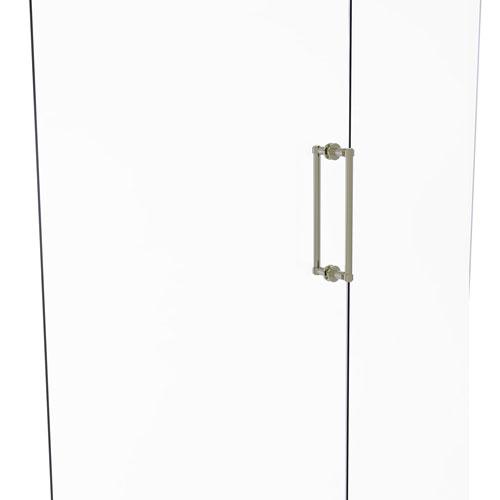 Polished Nickel 12-Inch Back to Back Shower Door Pull