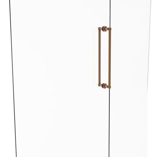 Brushed Bronze 18-Inch Back to Back Shower Door Pull