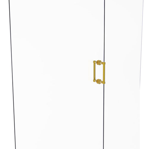 Polished Brass Six-Inch Back to Back Shower Door Pull