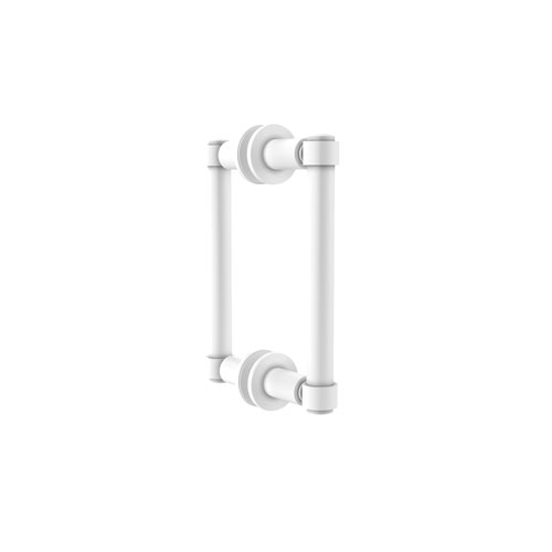 Matte White Six-Inch Back to Back Shower Door Pull