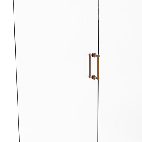 Brushed Bronze Eight-Inch Back to Back Shower Door Pull