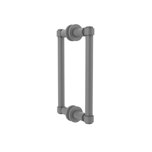 Matte Gray Eight-Inch Back to Back Shower Door Pull