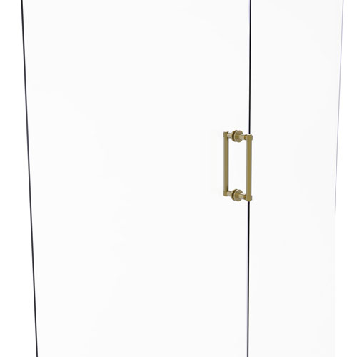 Satin Brass Eight-Inch Back to Back Shower Door Pull