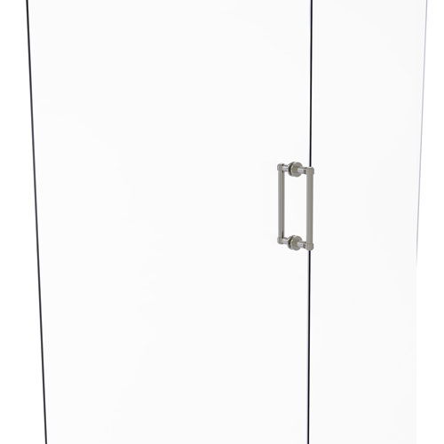 Satin Nickel Eight-Inch Back to Back Shower Door Pull