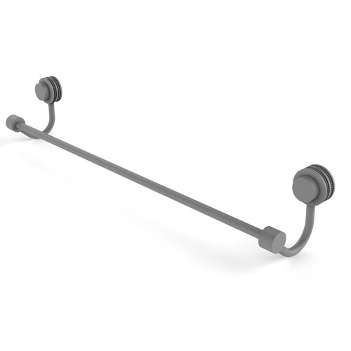 Venus Matte Gray 30-Inch Towel Bar with Dotted Accent