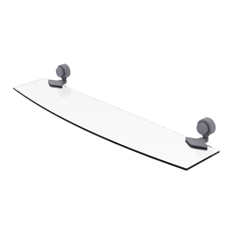 Venus Matte Gray 24-Inch Glass Shelf