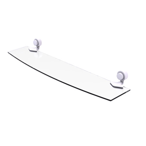 Venus Matte White 24-Inch Glass Shelf