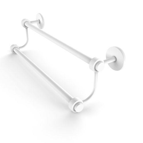 Satellite Orbit Two Matte White 36-Inch Double Towel Bar