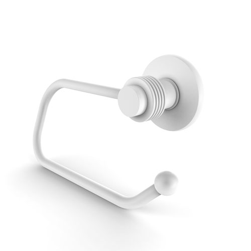 Mercury Matte White Three-Inch Toilet Tissue Holder with Groovy Accents