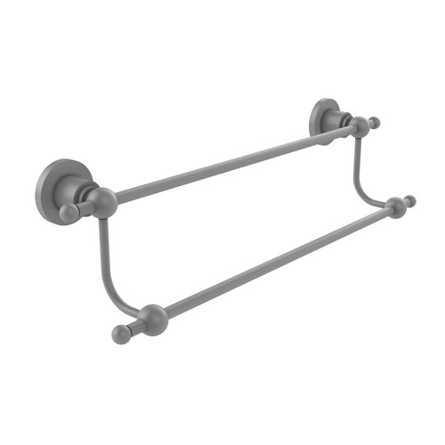 Astor Place Matte Gray 30-Inch Double Towel Bar