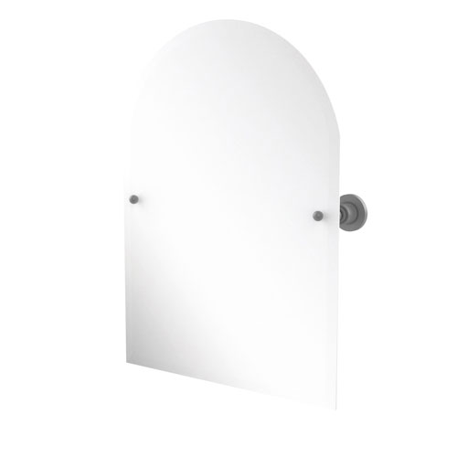 Astor Place Matte Gray 21-Inch Frameless Arched Top Tilt Mirror with Beveled Edge