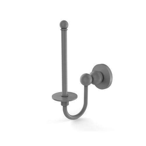 Bolero Matte Gray Three-Inch Upright Toilet Tissue Holder