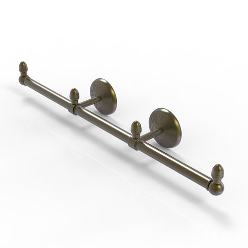 Monte Carlo Antique Brass Four-Inch Three Arm Guest Towel Holder