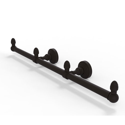 Waverly Place Oil Rubbed Bronze Four-Inch Three Arm Guest Towel Holder