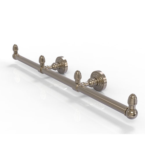 Waverly Place Antique Pewter Four-Inch Three Arm Guest Towel Holder