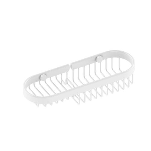 Matte White Four-Inch Combination Wire Basket
