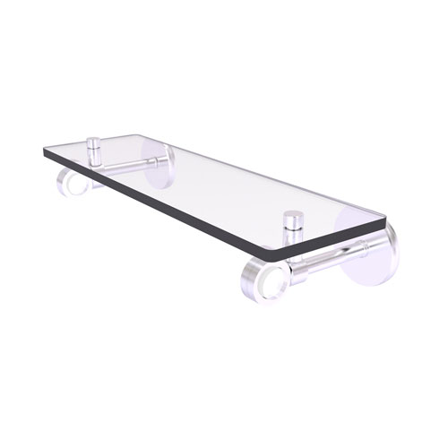 Clearview Satin Chrome 16-Inch Glass Shelf