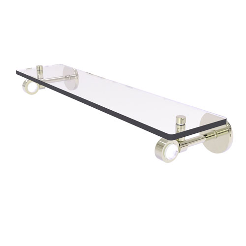 Clearview Polished Nickel 22-Inch Glass Shelf