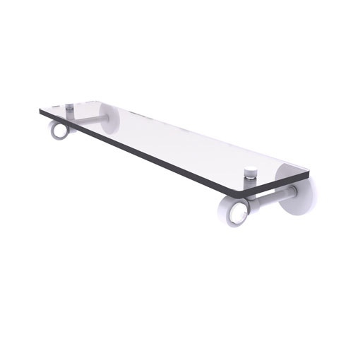 Clearview Matte White 22-Inch Glass Shelf