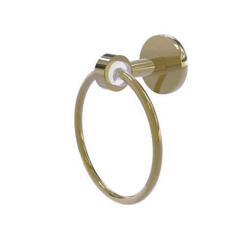 Clearview Unlacquered Brass Seven-Inch Towel Ring